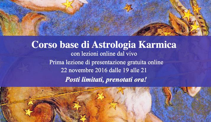 Corso base di astrologia karmica